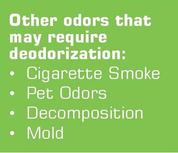Why SERVPRO Destroy Odors with Deodorization
